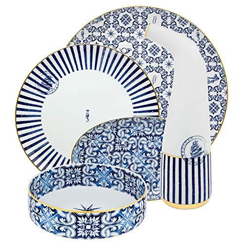 Brunno Jahara - Vajilla de porcelana (70 piezas)