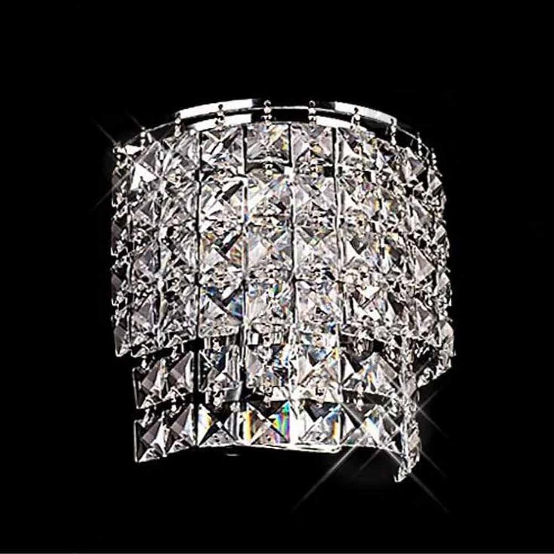 GAOJUAN Wandleuchte Kristall Wandleuchte Moderne Minimalistische Mode Kunst Wand Lampe Schlafzimmer Wohnzimmer Esszimmer Bett Gang Dekorative Wandlampe (20  20Cm)