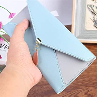 GUMAOPAJIAAAqb Monederos de Mujer, Portable Long Small Coin Purse Flap Money Clutch Bag Fashion Leaf Lady PU Wallet Key Ca...
