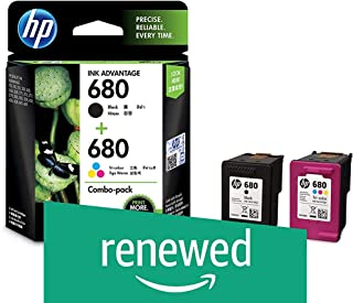 (Renewed) HP X4E78AA 680 Combo-Pack Black & Tri-Color Ink Cartridges