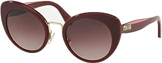 ميو ميو نظارات شمسية عين القطة للنساء ، بني - MU06TS 40Z150 53