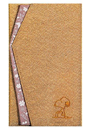 [SNOOPY(スヌーピー)] ふくさ 袱紗 (ベージュ/山吹茶) 冠婚葬祭 ご香典ご祝儀袋カバー SNOOPY PEANUTS