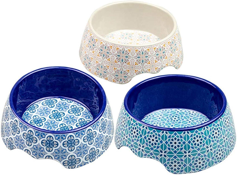 Pet Bowl, NonSlip Single Bowl, Classical and Elegant Simple Cat and Dog Food Bowl