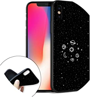 Space Astronaut Case for iPhone 7 Case Sun and Moon Tumblr Silicone Cover Phone Cases for iPhone 6 S 6S 5 5S SE 6/7/8 Plus 8 X SJK2205008HB for iPhone X