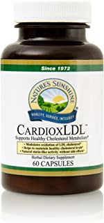 Nature's Sunshine CardioxLDL, 60 Capsules   Cholesterol Supplement with Powerful Herbal Formula That May Help to Modulate LDL Cholesterol Oxidation