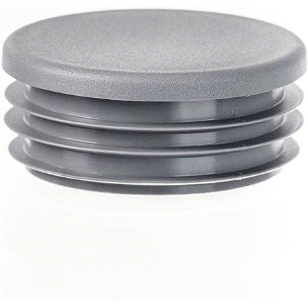 bouchon pour tube rond 55 blanc plastique Capuchon Bouchons 5 Stck