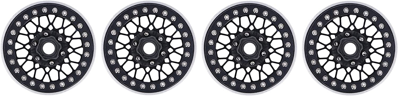 KUIDAMOS 4Pcs 1 Rapid rise 10 RC Hubs Be super welcome Classic Hub Tire Lock Wheels I Retro