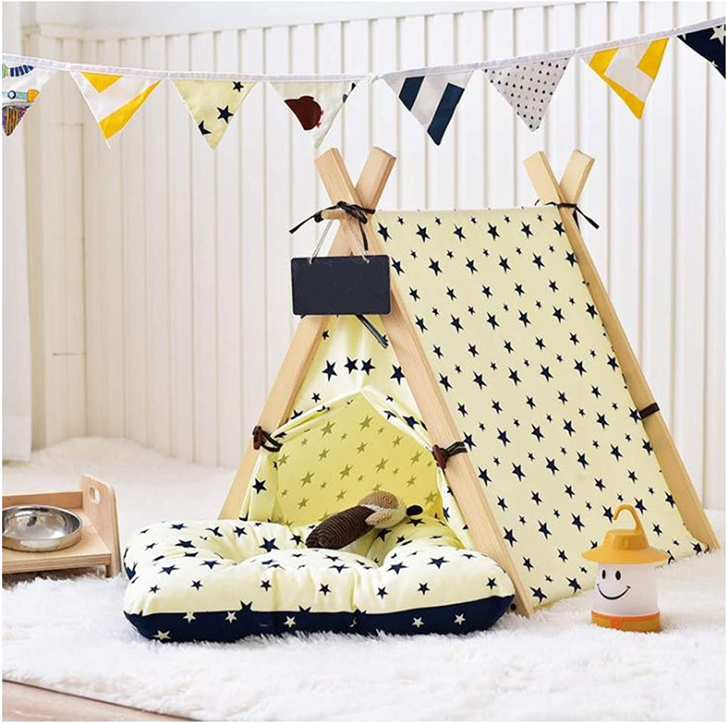 GDDYQ Dog Tent, Easy to Install and Washable Pet Indoor Tent Fashion Style Cat Dog Game House, There are Many Options,Tent,S
