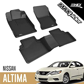 3D MAXpider All-Weather Floor Mats Compatible with Nissan Altima 2019-2021 Custom Fit Car Floor Liners, Kagu Series (1st &...