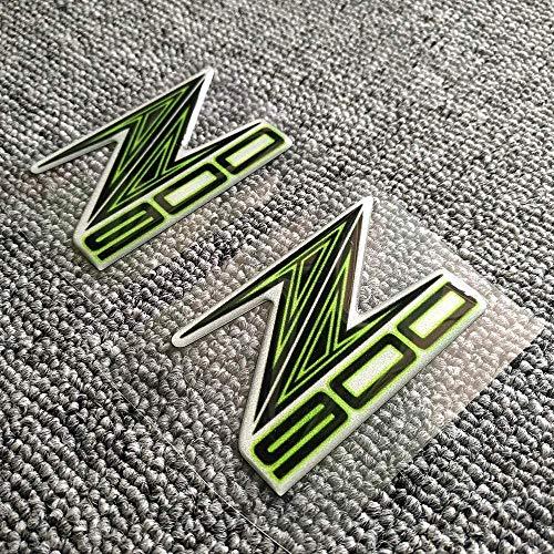ASDZ Praktisches Motorrad-Zubehör Z 800 900 1000 Motorrad-Abziehbild-Aufkleber-Form-3D-Behälter-Auflage-Emblem for Kawasaki Z800 Z900 Z1000 ABS-Logo-Aufkleber-Pads 800, Name: 800 Gute Quali