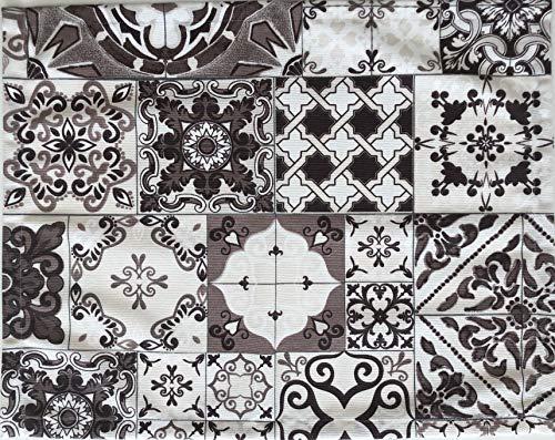 1KDreams Tischset. Set von 2 Tischset 50x40 cm. Stoff Baumwolle. Eleganter und moderner mit Fliesen und Majolika. Made in Italy.