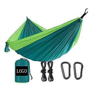 Hamac Extérieur Camping Récréatif Voyage Anti - Renversement 260*140 Vert + Vert