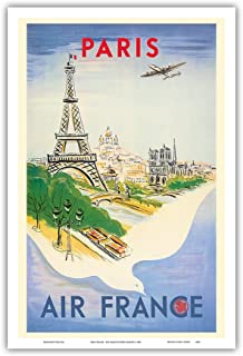 Best air france paris poster Reviews