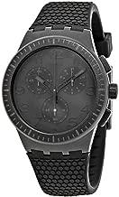 Swatch 1709 Time (Core) Quartz Silicone Strap, Black, 20 Casual Watch (Model: SUSB104)