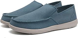 Summer Men/'s Linen Mocassins Respirant Confortable Mocassins De Conduite Chaussures Bateau Enfiler