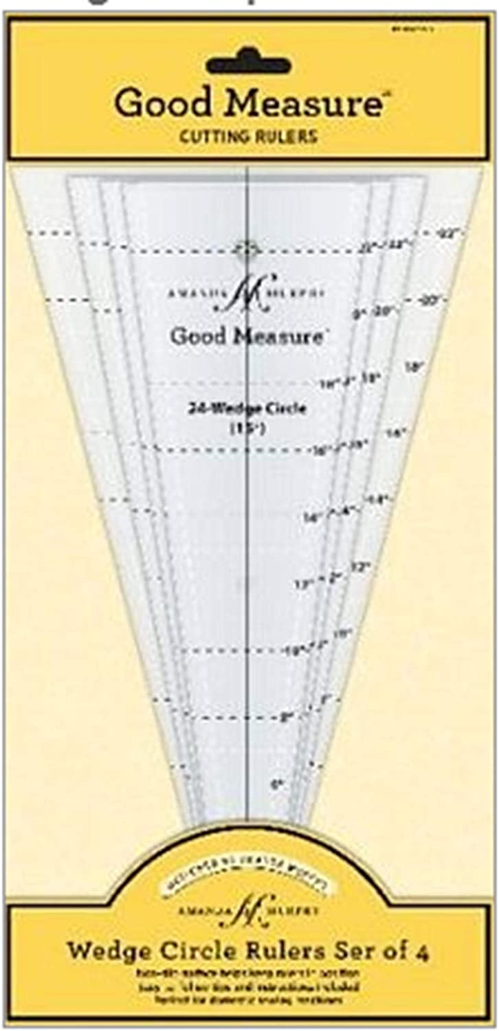 Good Measure Wedge Set 4 Cheap sale Ranking TOP20 Quilting Templates pc
