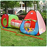 Roadacc 3-Piece Children Play Tent Set of Square Cubby, Triangle Cubby and...