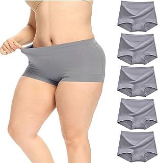 VWMYQ Plus Size Underwear for Women Cotton Soft Stretch Briefs Multipack