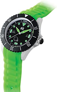 40Nine Japanese-Quartz Watch with Silicone Strap, Green, 22 (Model: 40NINE02/GREEN30)