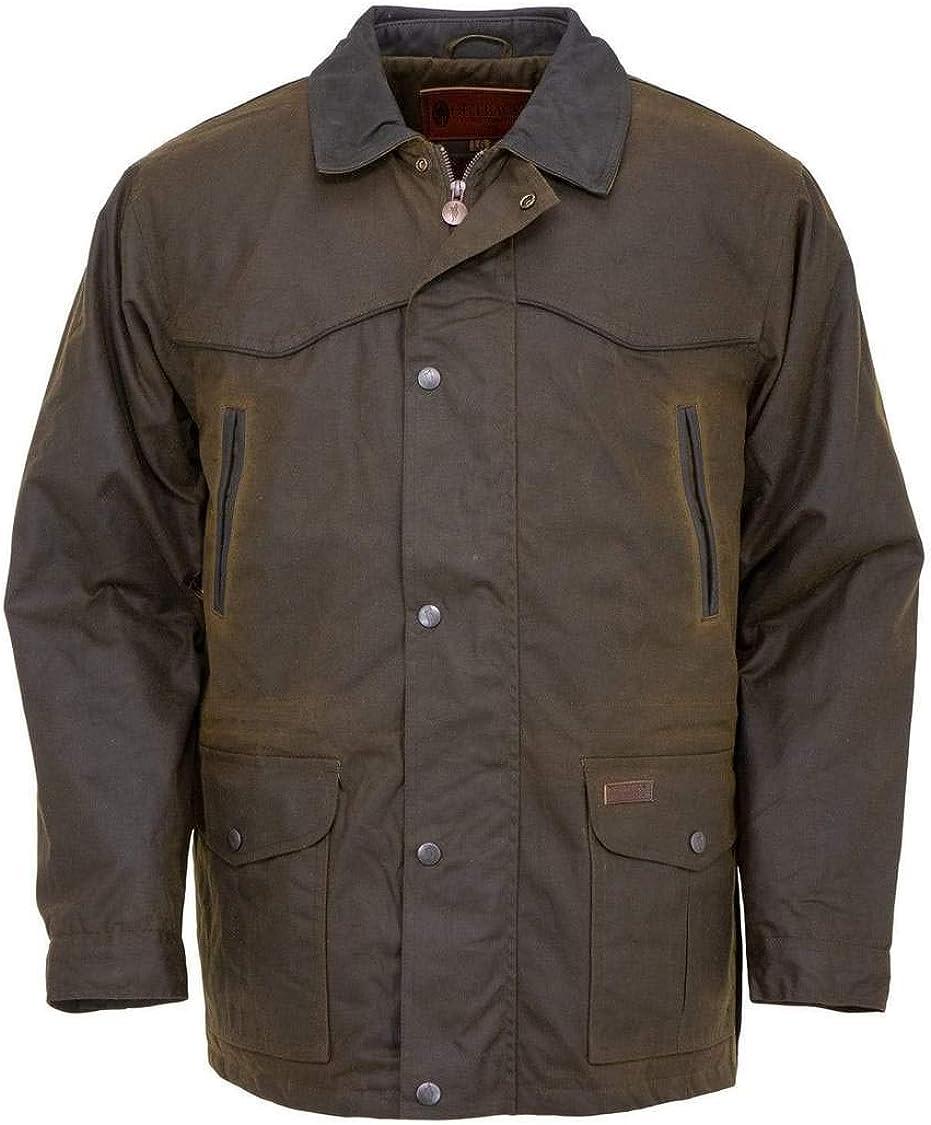 Outback Trading Company Men's 2707 Pathfinder Waterproof Breathable Fleece Lined Cotton Oilskin Western Jacket