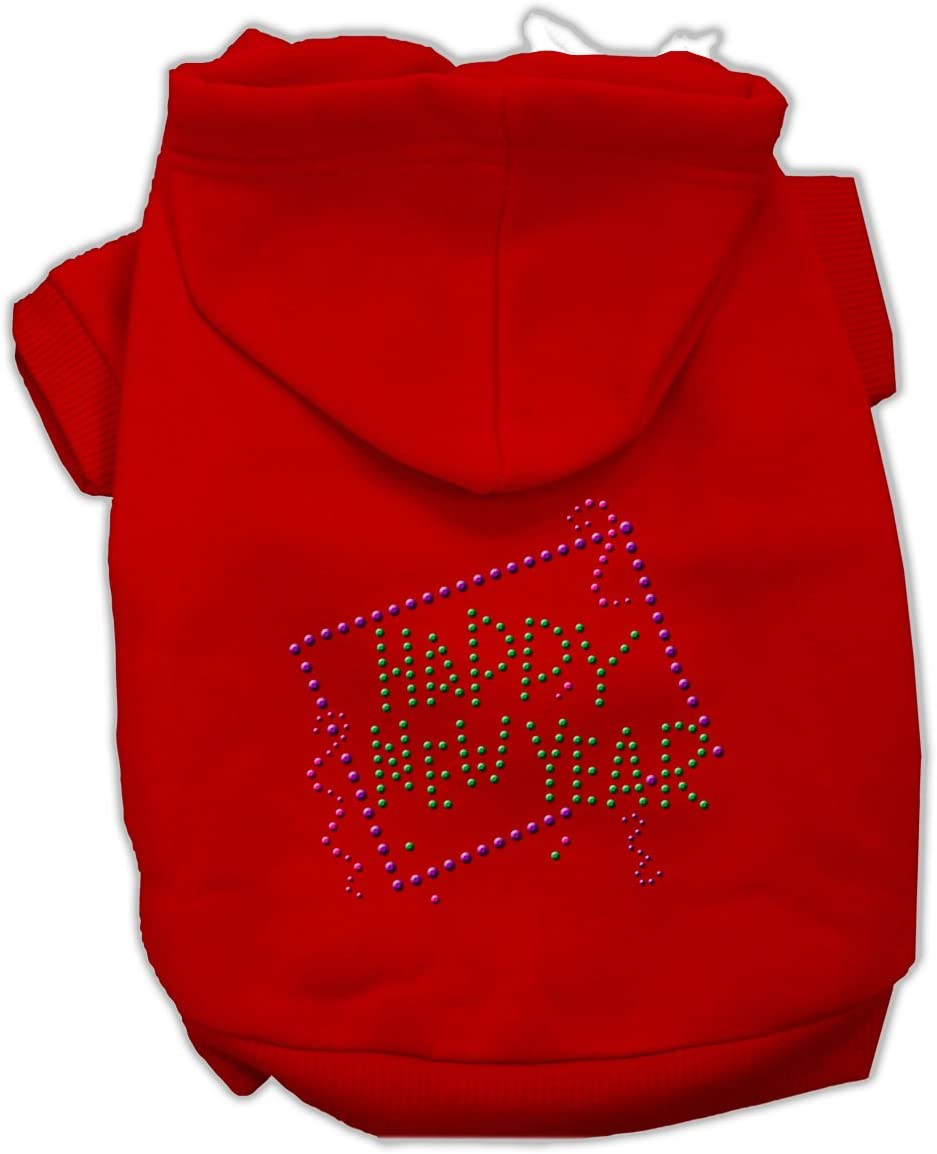Mirage Pet Cheap Max 77% OFF mail order shopping Products 14-Inch Happy L New Year Hoodies Rhinestone