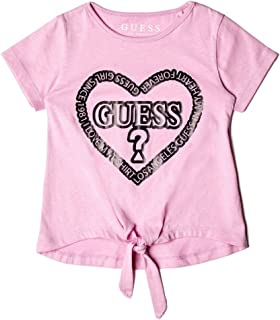 Girls' Little Short Sleeve Glitter Logo T-Shirt