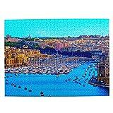 Malta Jigsaw Puzzle de 500 piezas para adultos niño de madera regalo recuerdo 20.5 x 15 pulgadas (FX03775)