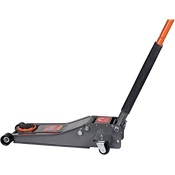 BAISHITE Hydraulic 3 Ton Jack Low Profile Trolley Floor, Dual Rapid Pump Fast Lifting