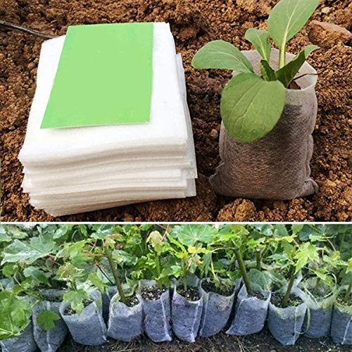 100st Biologisch Afbreekbare Zakken For Nursery Plant Pots For Growing Vegetable Potten Garden Teelt Kwekerij Plant