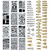 L.J.JZDY Talla Pirograbado Kit Los nuevos PC Herramienta de grabación de Soldadura del Hierro de Madera 53 Grabador Set Pen Kit Consejos Adicionales
