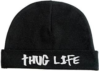 Lil Shirts Unisex Baby Thug Life Beanie (12-18, Black)