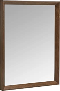 AmazonBasics Rectangular Wall Mirror 41 x 51 cm - Peaked Trim, Walnut