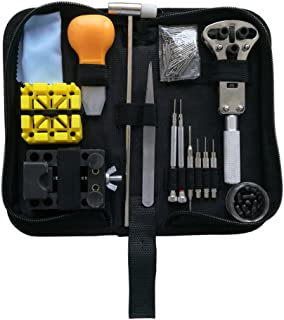 EONBES Watch Repair Tool Kit, Professional Wrist Watch Band Link Back Pin Strap Removal Adjustment Sizing Opening Kit Set with Carrying Case