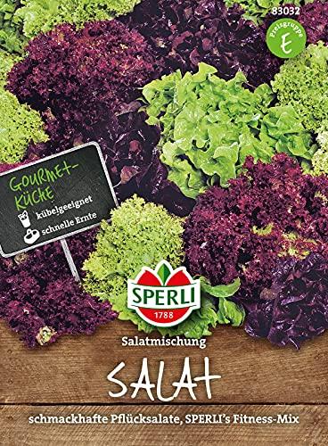 83032 Sperli Premium Salat Samen Mix | Pflücksalat Samen | Schnittsalat Samen | Salat Mix | Lollo Rosso | Lollo Bionda | Eichblatt Rot Grün