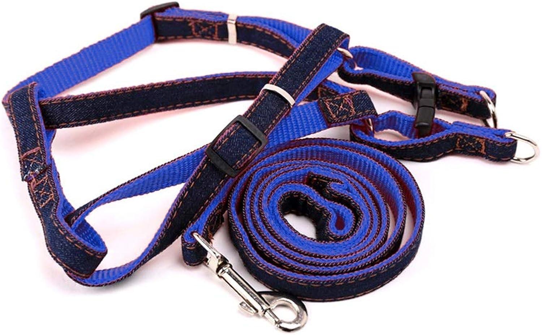 Chest Strap Dog Leash Dog Leash Dog Rope Collar Dog Leash TwoPiece (Size   L)