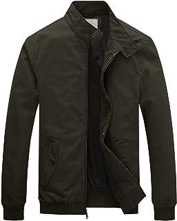WenVen Men's Causal Cotton Lightweight Bomber Jacket Slim Fit Outerwear Coat