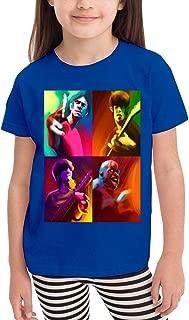 2~6歳の子供用Tシャツ 音楽Gorillaz 活気に満ちた素敵な、学校、旅行、スポーツ、綿の半袖Tシャツ