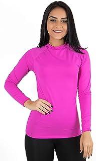 Camisa Térmica Segunda Pele Praia Surf Proteção Uv Pink