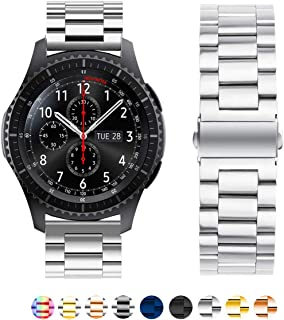 SPINYE Band Compatible for Galaxy Watch 46mm / Galaxy Watch 3 45mm 22mm Solid Stainless Steel Metal Replacement Strap for ...