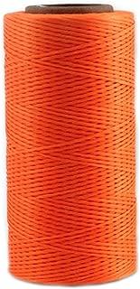 Leather Sewing Thread Stitching String - DIY Craft Flat Waxed Cord 284 Yards (Orange)