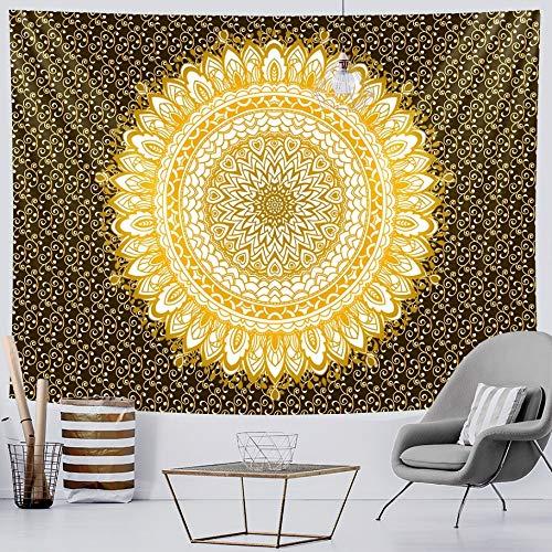 KHKJ Mandala Fondo de Moda Tapiz de Tela brujería Tapiz de Pared Mandala Colgante de Pared Arte Tapiz Decorativo A6 200x150cm