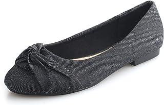 Denim Flats Shoes Women Sole-Simple Ballerina Ballet Flats for Women