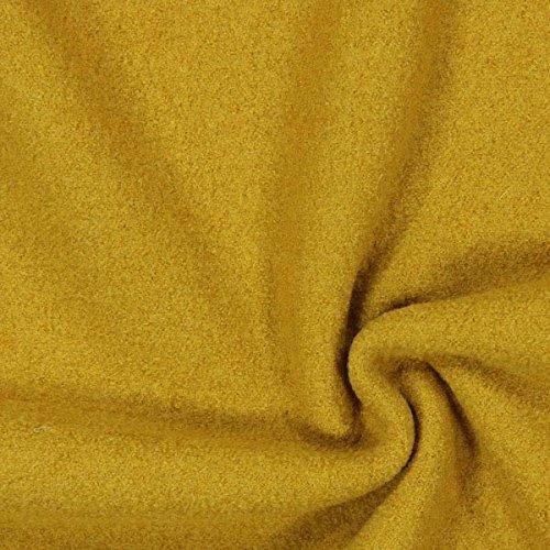 Fabulous Fabrics Walkloden – senf — Meterware ab 0,5m — zum Nähen von Jacken, Mäntel und Blazer
