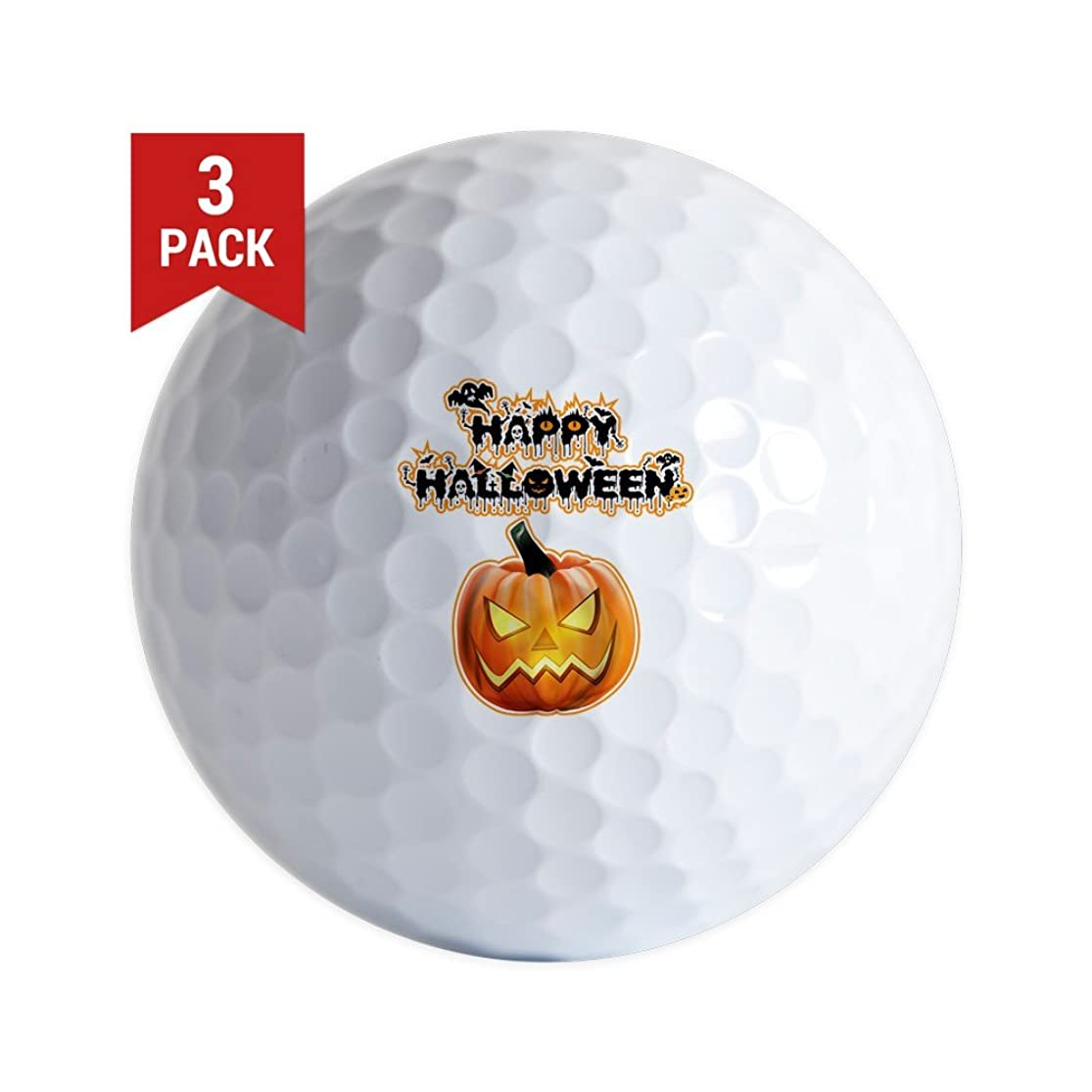 Golf Balls (Set of 3) Happy Halloween Pumpkin oamlqbfm9