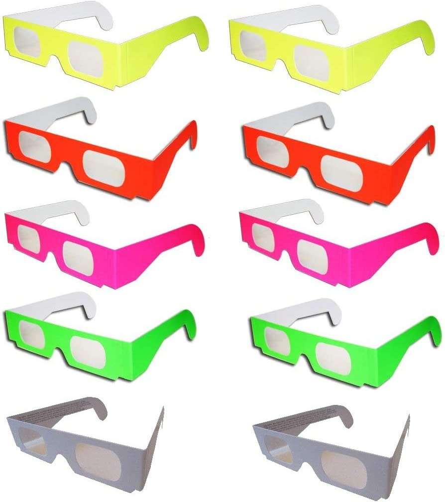 Rob's Super Happy Challenge the lowest price Fun Store Pair Glasse Rare Fireworks 10 Diffraction