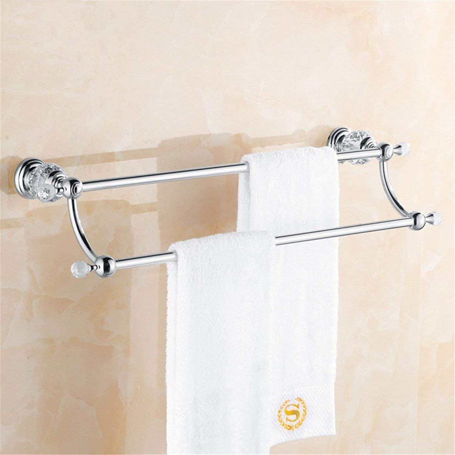 Contemporary Chrome Crystal Accessories of Costumes of Bains Dry-Towels Bar Towels Toilet Brush,Placement Frame Double Pole