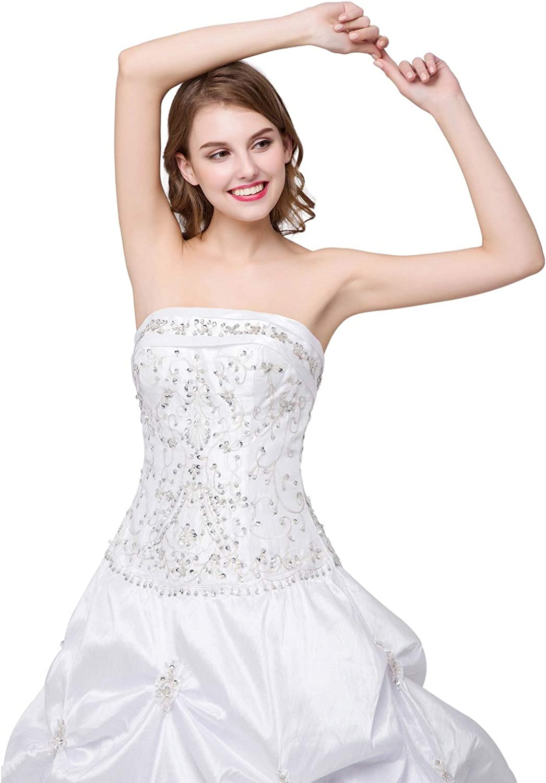 CTARCROW Sexy Women Evening Prom Dresses Rhinestone Strapless Tube Top Mini