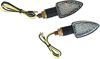 MotorToGo 2 pcs Black LED Turn Signal Lights Indicators Blinkers Lights for 2009 Genuine Scooter Co. Roughhouse 50R50