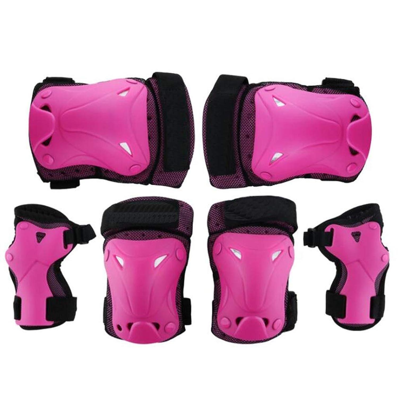 膝パッドセット、スポーツ肘手首サポートパッド、子供と大人のためのアウトドアスポーツアクセサリー(6個)
