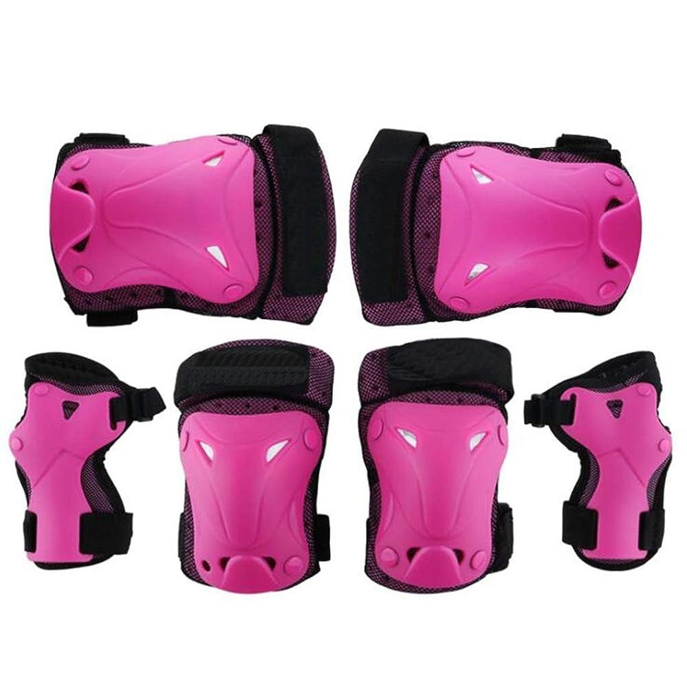 寮発音する予備膝パッドセット、スポーツ肘手首サポートパッド、子供と大人のためのアウトドアスポーツアクセサリー(6個)